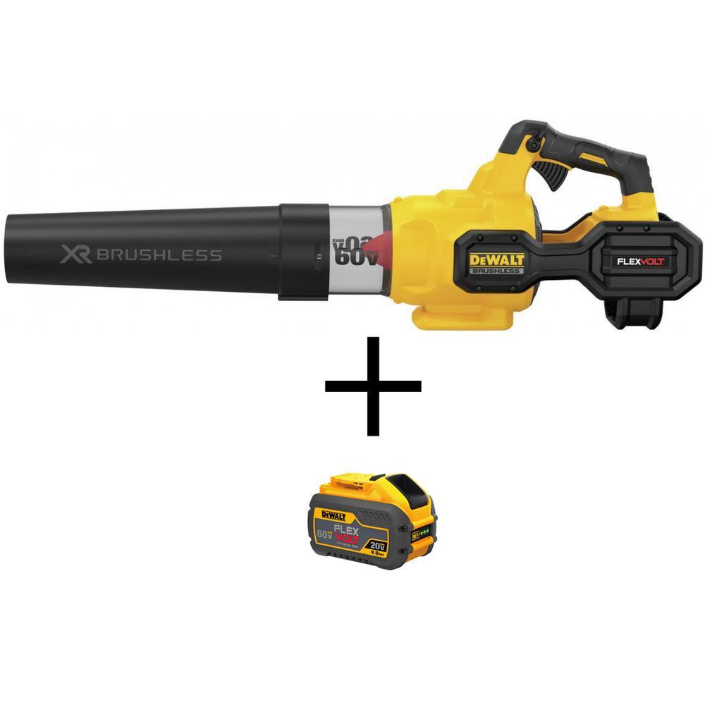 125 MPH 600 CFM Flexvolt 60V MAX Lithium-Ion Cordless Axial Blower (Tool Only) with Bonus (1) FLEXVOLT 60V 3.0Ah Battery