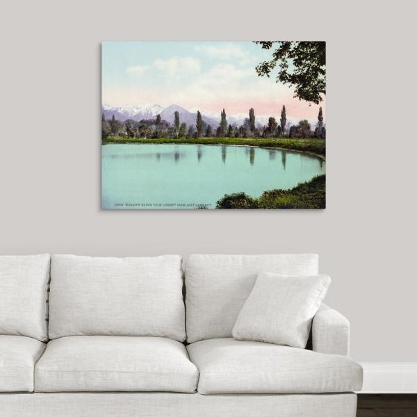 Pleasant Vintage Photograph Of Wasatch Range From Liberty Park Salt Lake Ci By Great Big Canvas Canvas Wall Art Home Interior And Landscaping Ologienasavecom