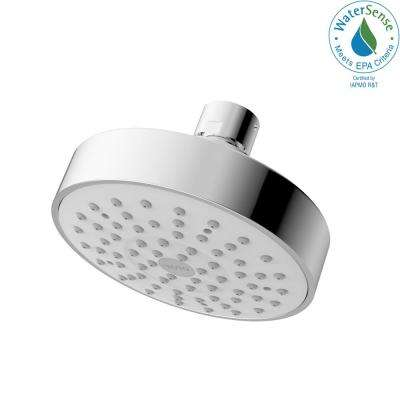 Modern 1-Spray 4 in. Round Showerhead in Polished Chrome