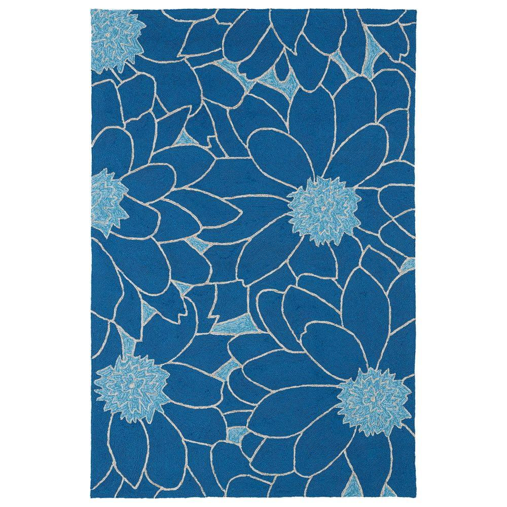 Kaleen Home and Porch Blue 2 ft. x 3 ft. Indoor/Outdoor Area Rug