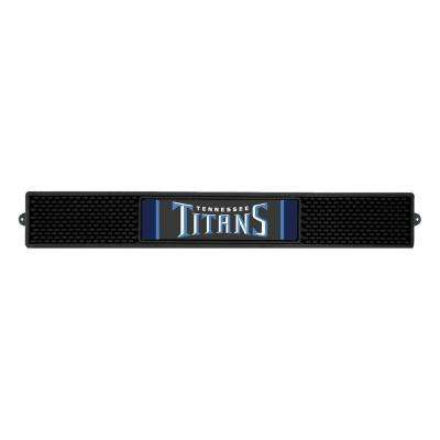 NFL- 3.25 in. x 24 in. Black Tennessee Titans Drink Mat