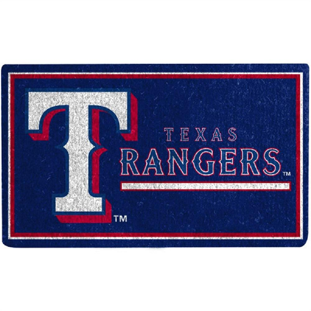Exceptionnel Evergreen MLB 18 In. X 30 In. Texas Rangers Coir Welcome Mat