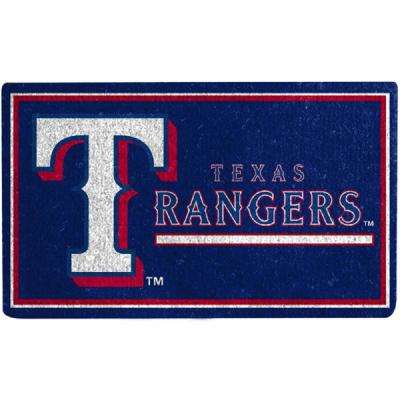 MLB 18 in. x 30 in. Texas Rangers Coir Welcome Mat