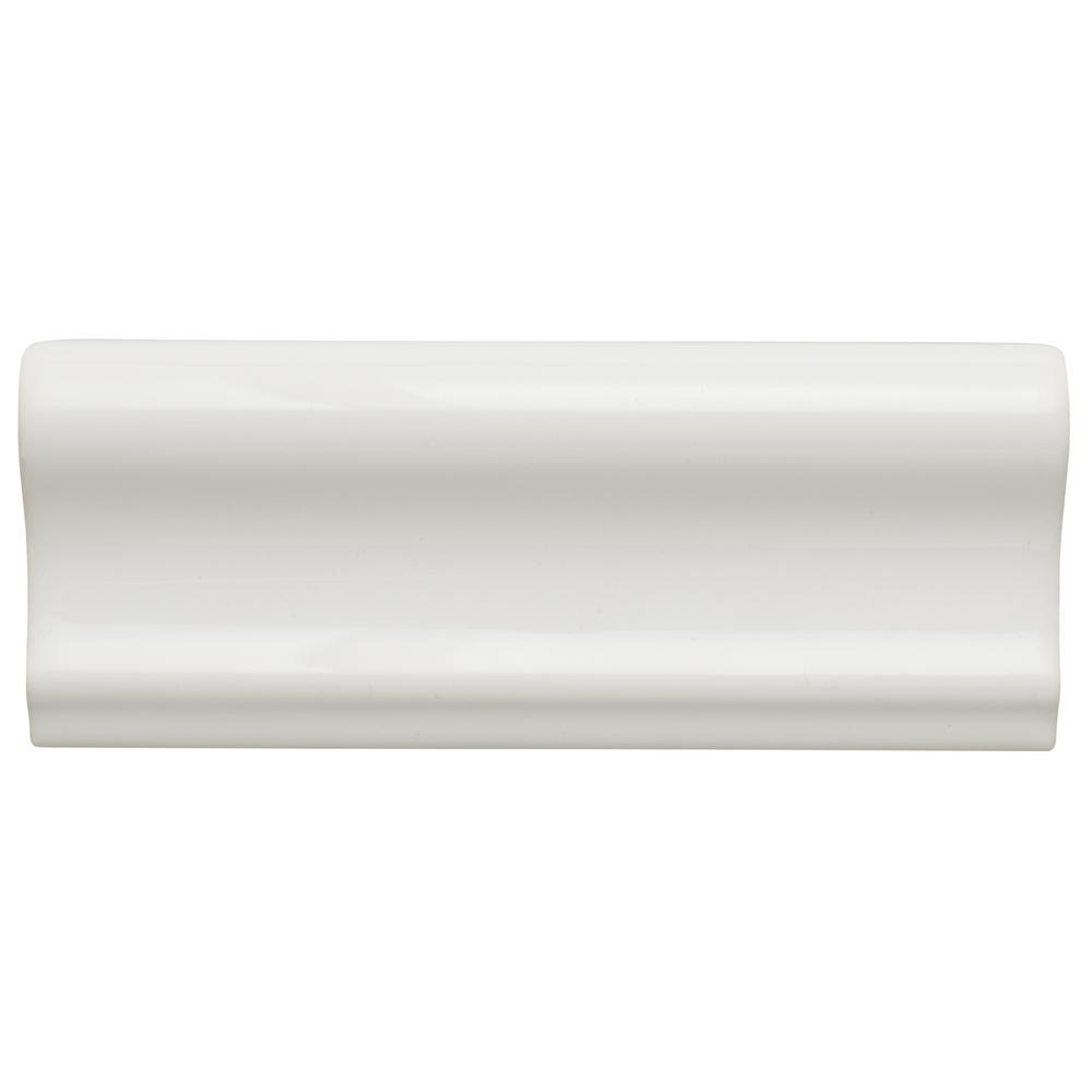 Jeffrey Court Fresh White 2 In. X 6 In. Ceramic Single