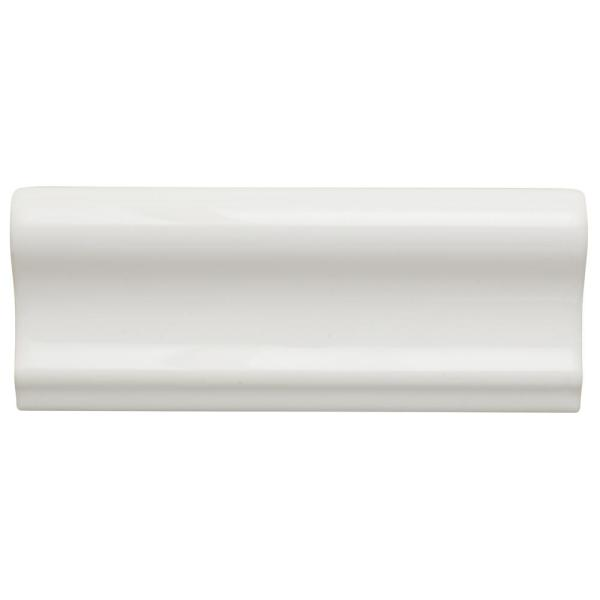 Restore Bright White 2 in. x 6 in. Ceramic Chair Rail Wall Trim Tile (0.09 sq. ft./ piece)