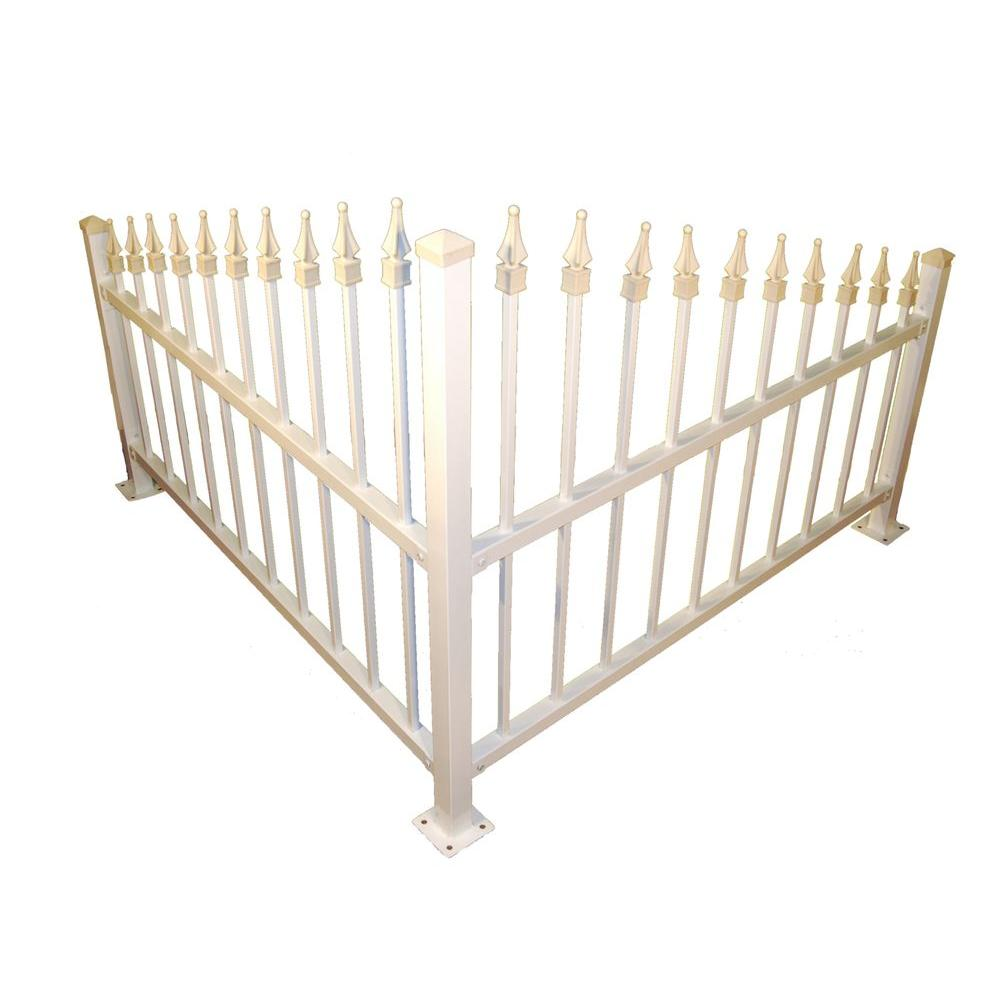 null 3 ft. H x 8 ft. W Steel Corner Fence-DISCONTINUED