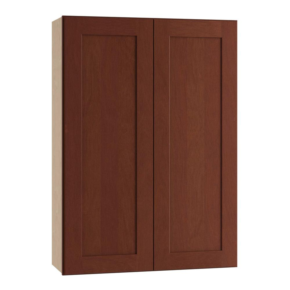 Home Decorators Collection Kingsbridge Assembled 24x42x12 In Double Door Wall Kitchen Cabinet