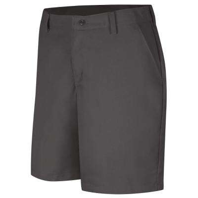 Women's Size 10 in. x 08 in. Charcoal Plain Front Short