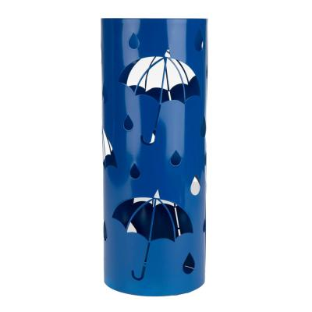 Blue Metal Umbrella Holder Stand