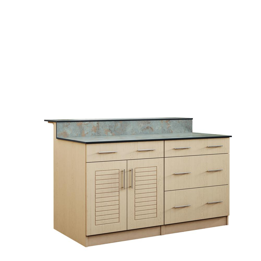 Key West 59.5 in. Outdoor Bar Cabinets with Countertop 2-Door and