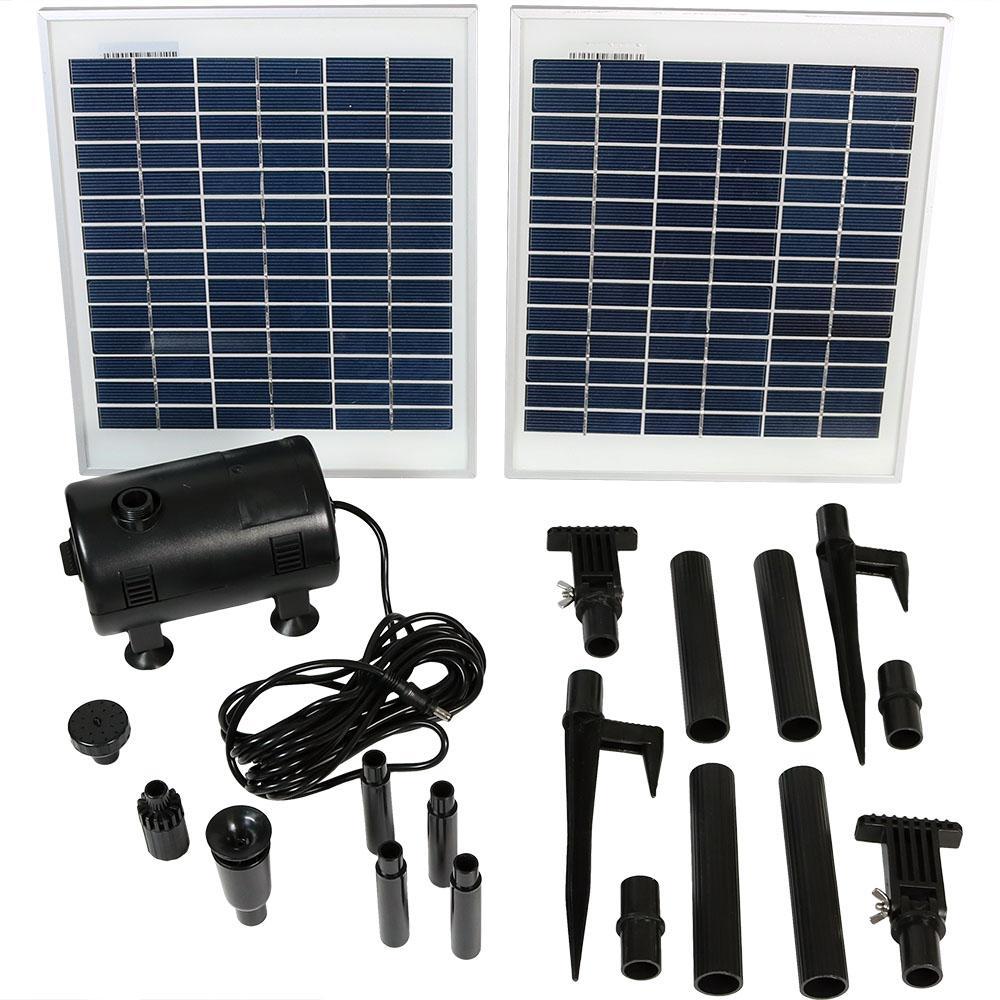 396 GPH Solar Fountain Pump and Solar Panel Kit