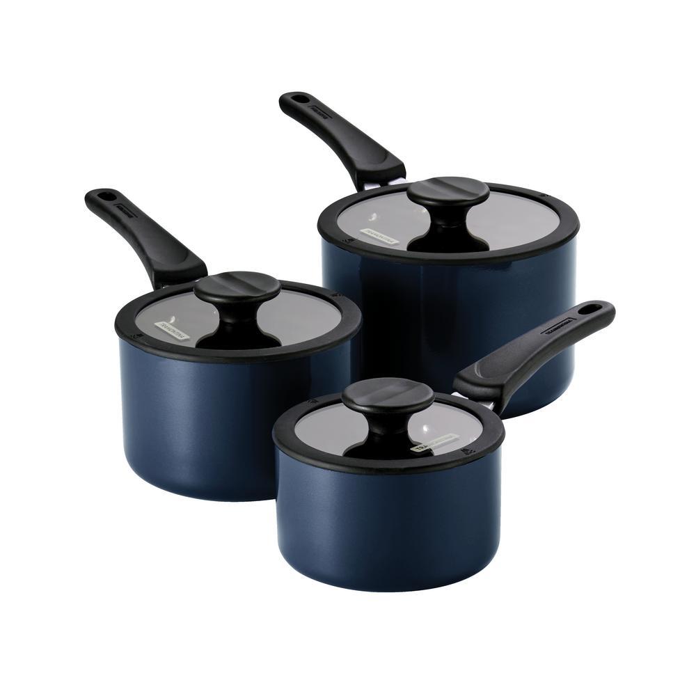 6-Piece Naval Nesting Nonstick Cookware Set