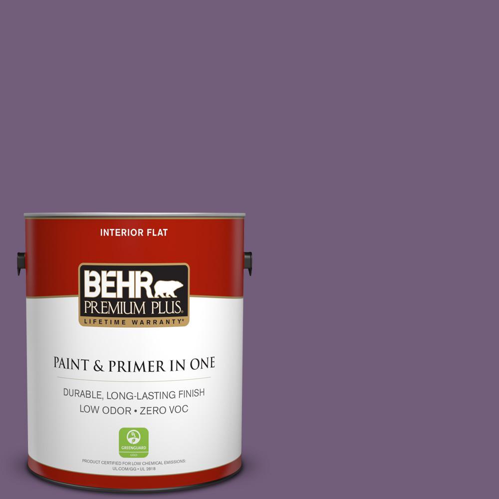 BEHR Premium Plus 1-gal. #660D-6 Zinfandel Zero VOC Flat Interior Paint