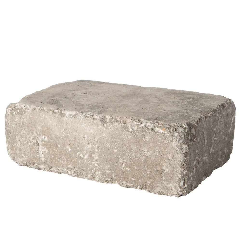Pavestone RumbleStone Large 3.5 in. x 10.5 in. x 7 in. Greystone Concrete Garden Wall Block (96 Pcs. / 24.5 Face ft. / Pallet)