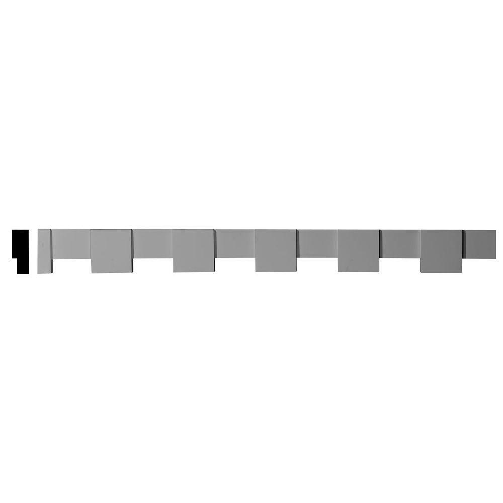 Ekena Millwork 2-3/8 in. x 4-3/8 in. x 96-1/4 in. Polyurethane Crown Dentil Block Moulding