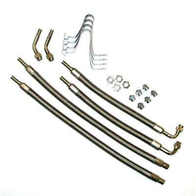 """Hose Extenders For 16""""-19.5"""" Wheel Liners & Covers - 4 Hose Kit, Hub Hole Mount"""