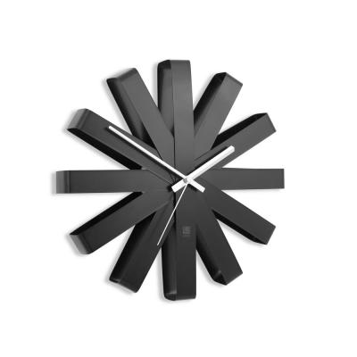 Ribbon 12 in. Black Wall Clock