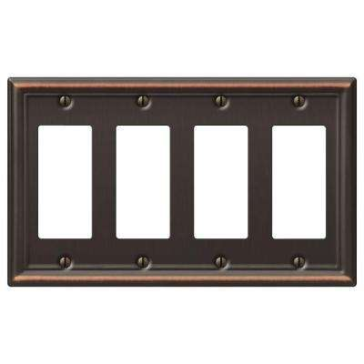 Chelsea 4 Decora Wall Plate - Aged Bronze