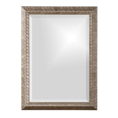 Medium Rectangle Silver Leaf Beveled Glass Contemporary Mirror (28 in. H x 20 in. W)