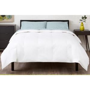 Medium Weight Down Alternative Cotton White Full/Queen Comforter
