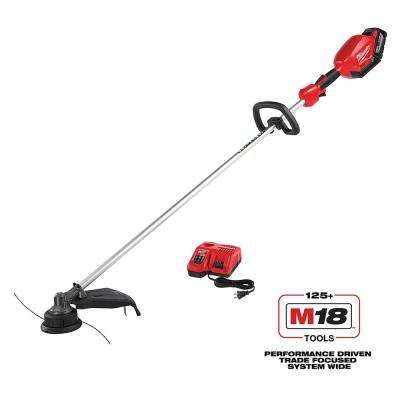 M18 FUEL 18-Volt Lithium-Ion Brushless Cordless String Trimmer Kit with 9.0 Ah Battery and Rapid Charger