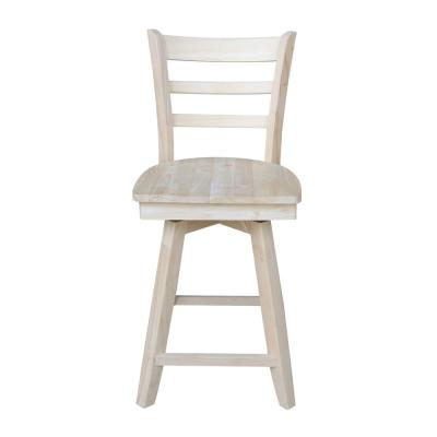 Emily 24 in. H Unfinished Swivel Counter Stool