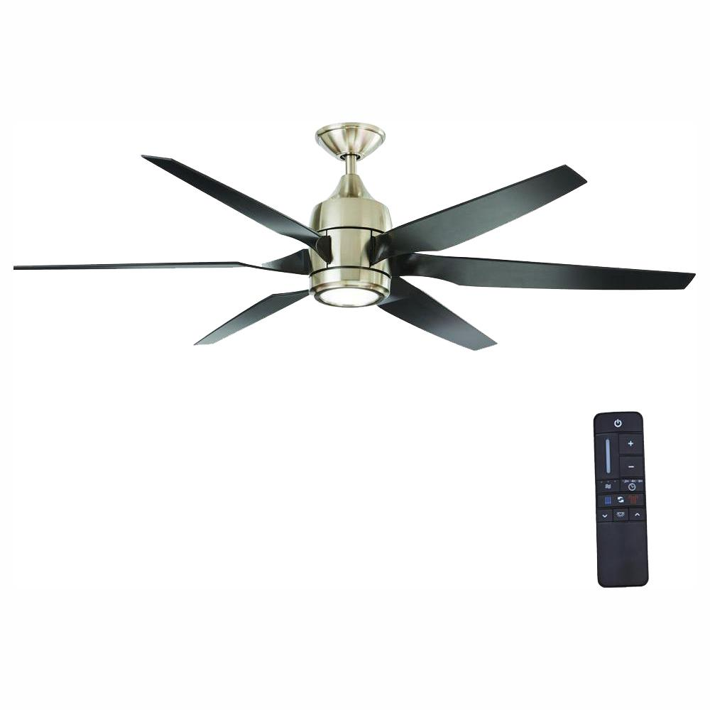Home Decorators Collection Kelbra 60 in. LED Indoor Brushed Nickel Ceiling Fan with Light Kit and Remote Control