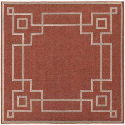 Red - Square - Solid/Gradient - Outdoor Rugs - Rugs - The Home Depot