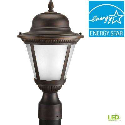 Westport Collection 1-Light Antique Bronze LED Outdoor Post Lantern