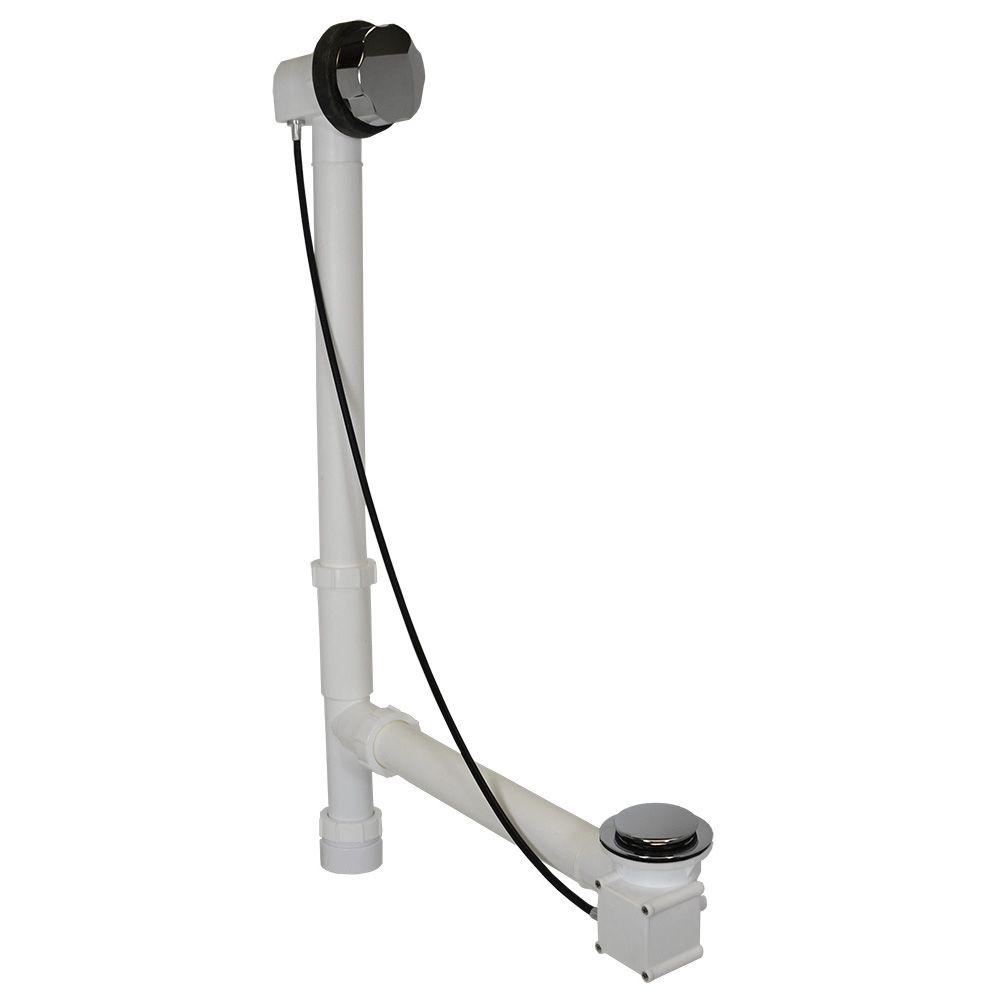 Everbilt Cable Drive 1-1/2 in. White Poly Pipe Bath Waste and ...