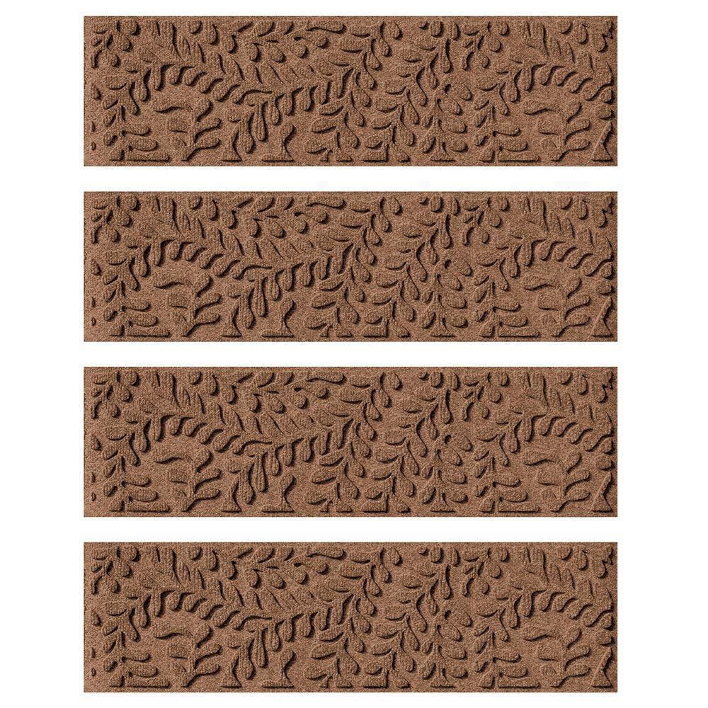 Dark Brown Slip Proof Stair Tread : Aqua shield dark brown in boxwood stair