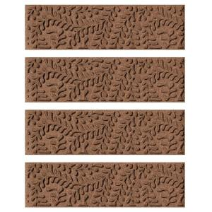 Aqua Shield Dark Brown 8.5 In. X 30 In. Boxwood Stair Tread Cover (Set Of  4) 20561521   The Home Depot