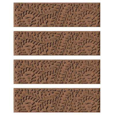 Wonderful Dark Brown 8.5 In. X 30 In. Boxwood Stair Tread Cover (Set Of