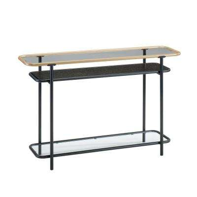 Boulevard Cafe Black Glass Top Console Table