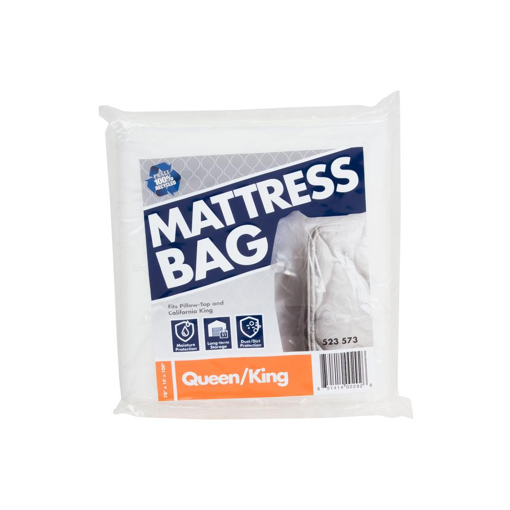 The Home Depot 100 in. x 78 in. x 14 in. Queen and King Mattress Bag (10-Pack)