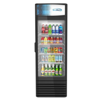 9 cu. ft. Commercial Upright Display Refrigerator Glass Door Merchandiser with LED Lighting in Black