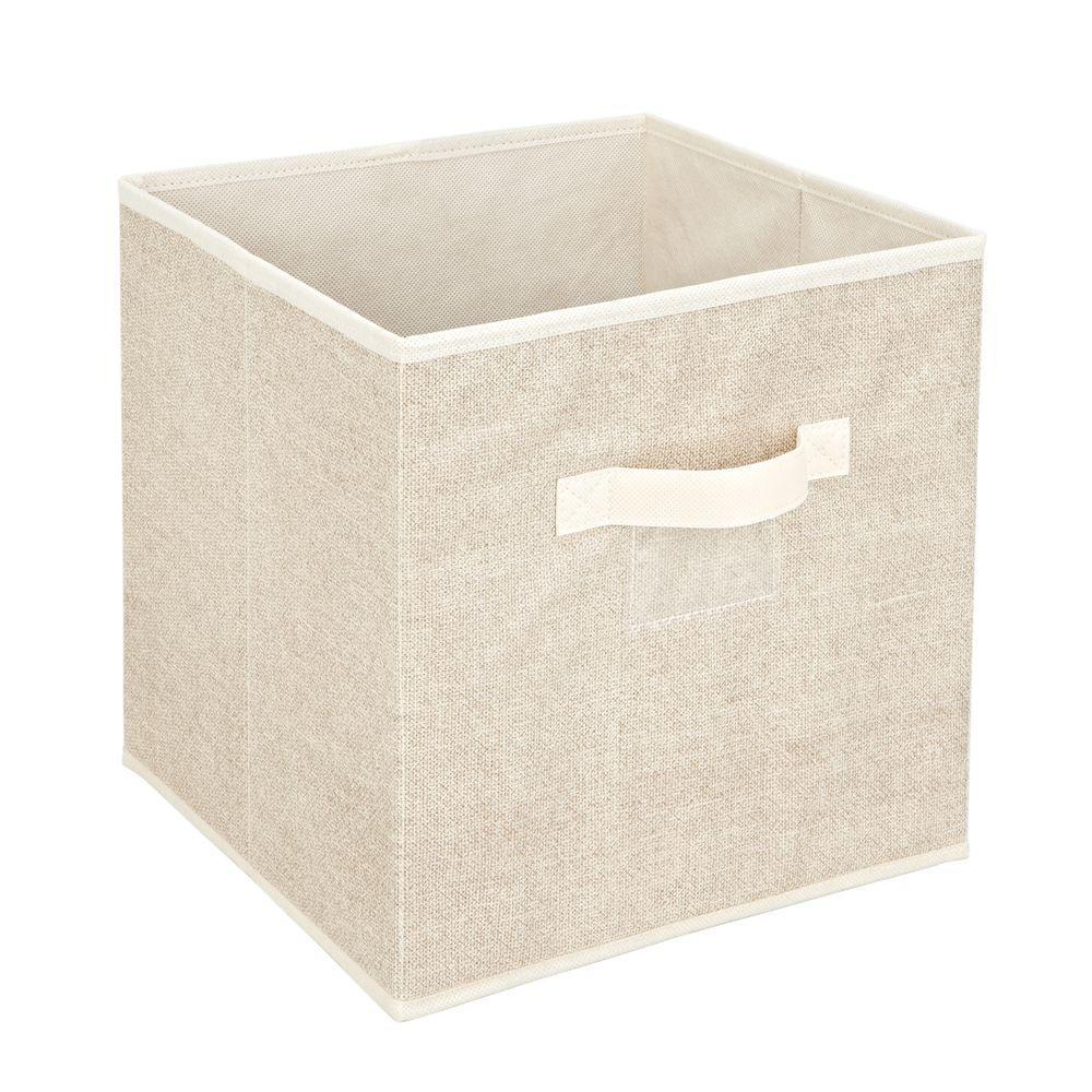 12 in. x 12 in. Faux Jute Storage Box Cube Bin