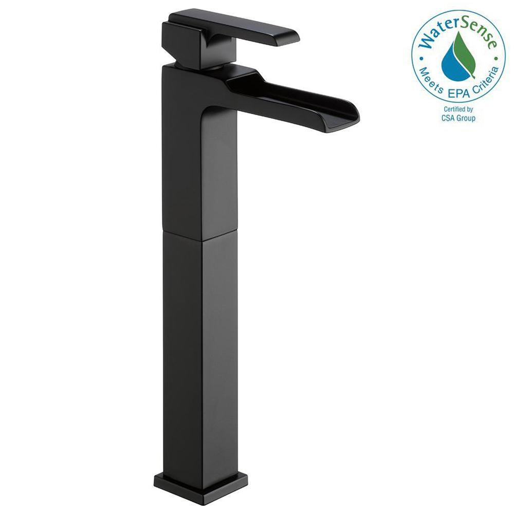 Delicieux Delta Ara Single Hole Single Handle Vessel Bathroom Faucet With Channel  Spout In Matte Black