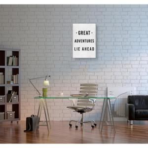 10 in. x 15 in. 'Great Adventures Lie Ahead'' by ''Oliver Gal'' Printed Framed Canvas Wall Art