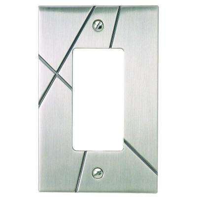 Modernist 1 Rocker Metal Wall Plate - Brushed Nickel