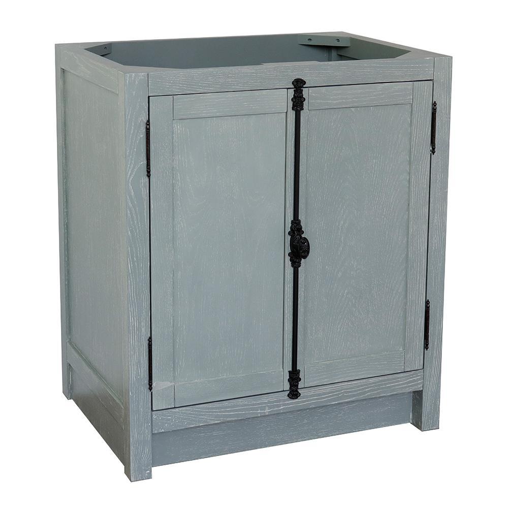 Plantation 30 in. W x 21.5 in. D Bath Vanity Cabinet Only in Gray
