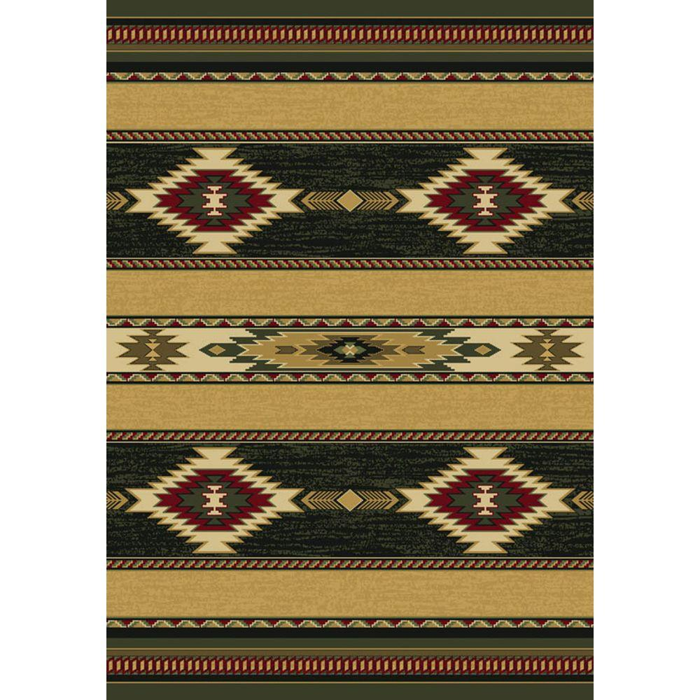 United Weavers Overstock Tulsa Chocolate 5 ft. 3 in. x 7 ft. 6 in. Area Rug