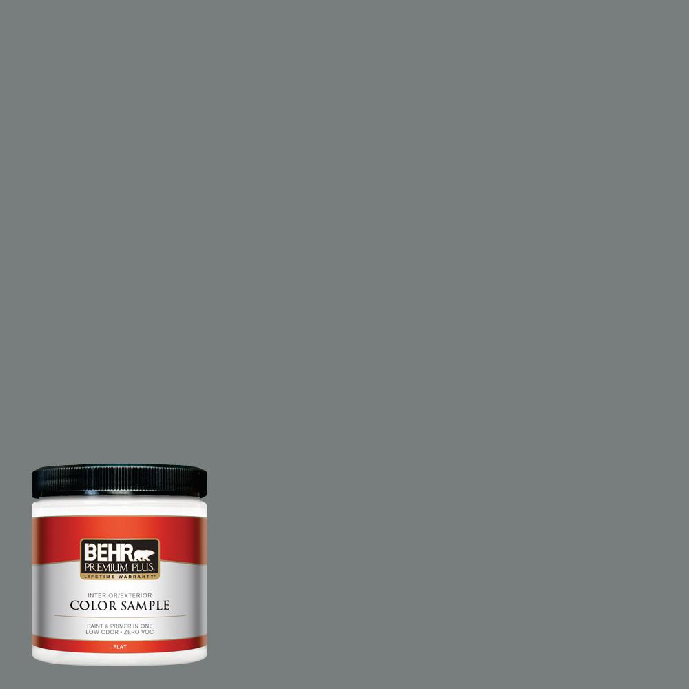 Ppu25 18 Shutter Gray Flat Interior Exterior Paint And Primer In One Sample