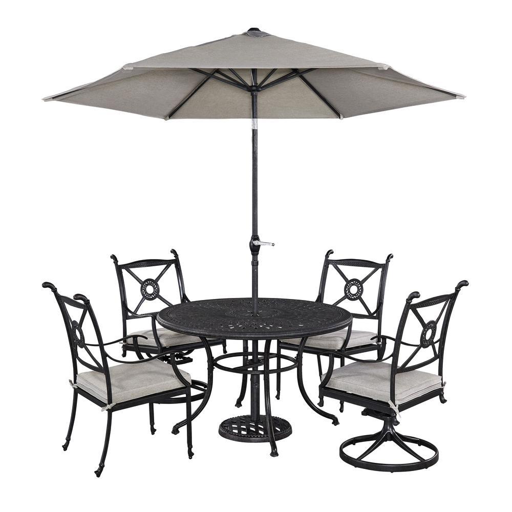 Athens 5-Piece Patio Dining Set with Umbrella