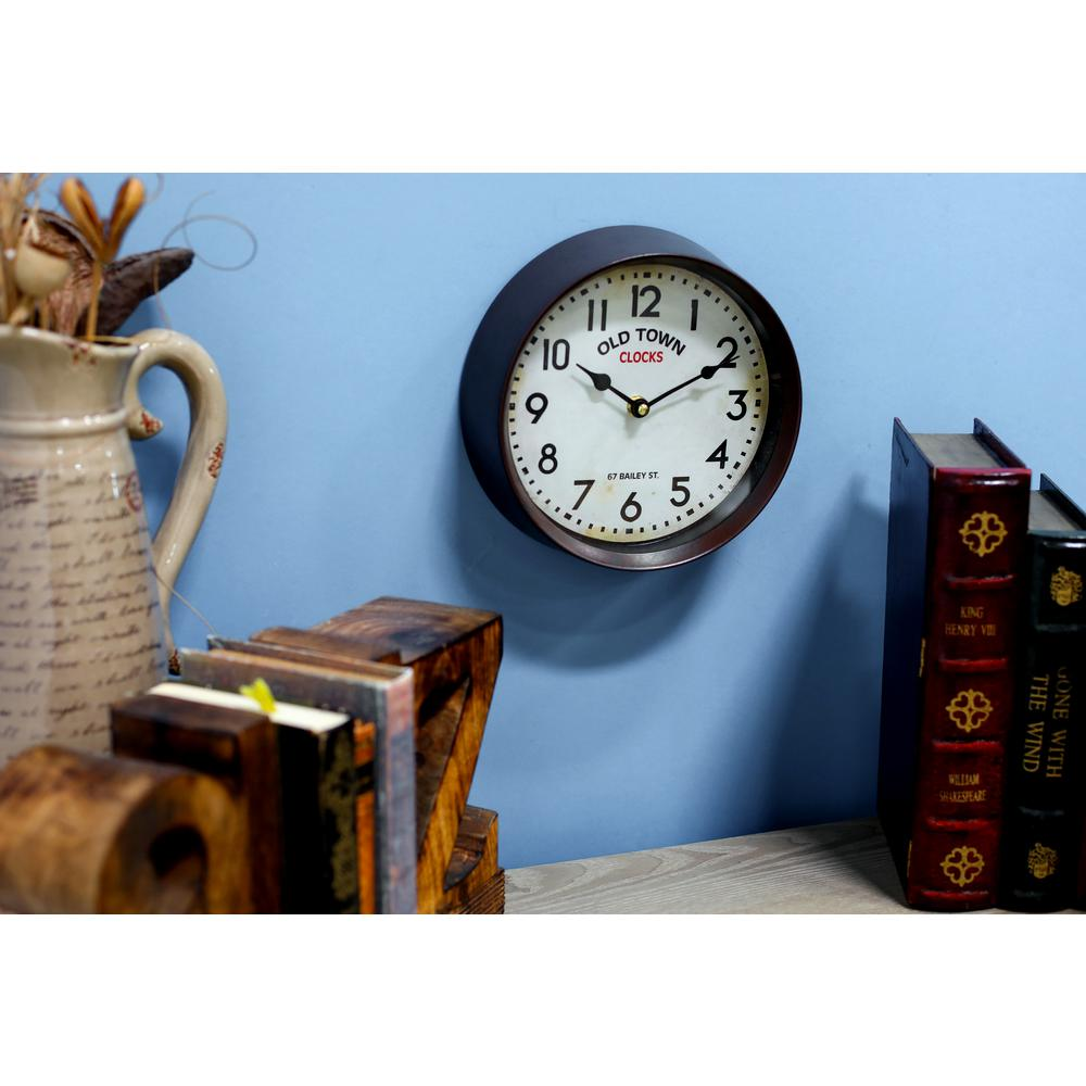 Multi-Colored London-Inspired Wall Clock with White Accents-52587 ...