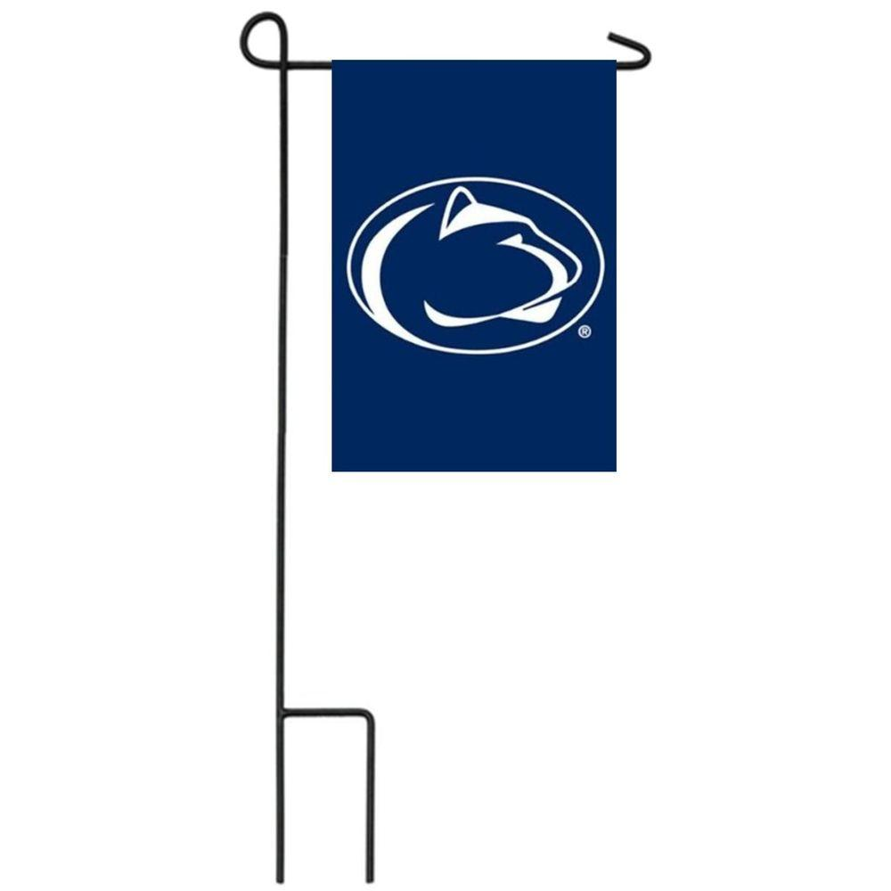 Team Sports America NCAA 12-1/2 in. x 18 in. Penn State 2-Sided Garden Flag with 3 ft. Metal Flag Stand