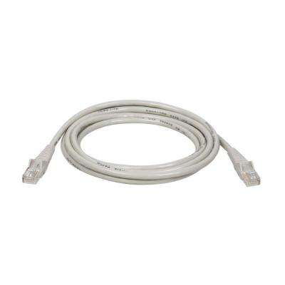 10-ft. Cat5e / Cat5 350MHz Snagless Molded Patch Cable RJ45 - Gray