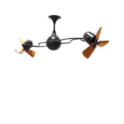 Italo Ventania 62 in. Indoor/Outdoor Matte Black Ceiling Fan with Wall Control