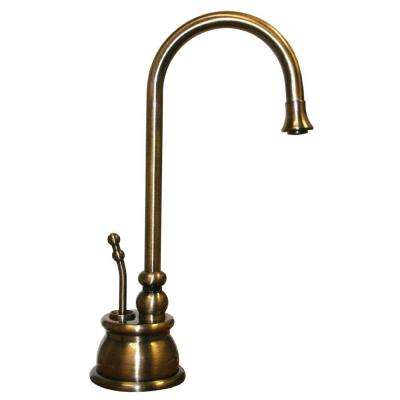 Forever Hot 1-Handle Instant Hot Water Dispenser Faucet in Antique Brass
