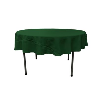 Hunter Green 72 in. Round Polyester Poplin Tablecloth